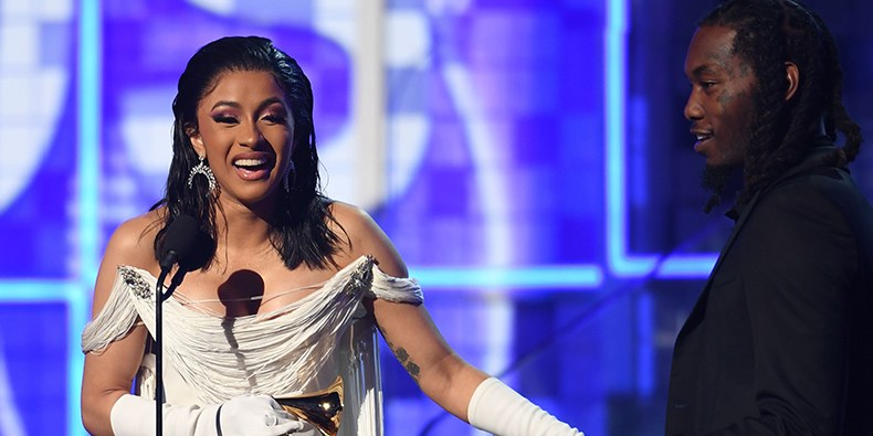 Cardi B Makes History As First Solo Woman To Win Rap Album Grammy