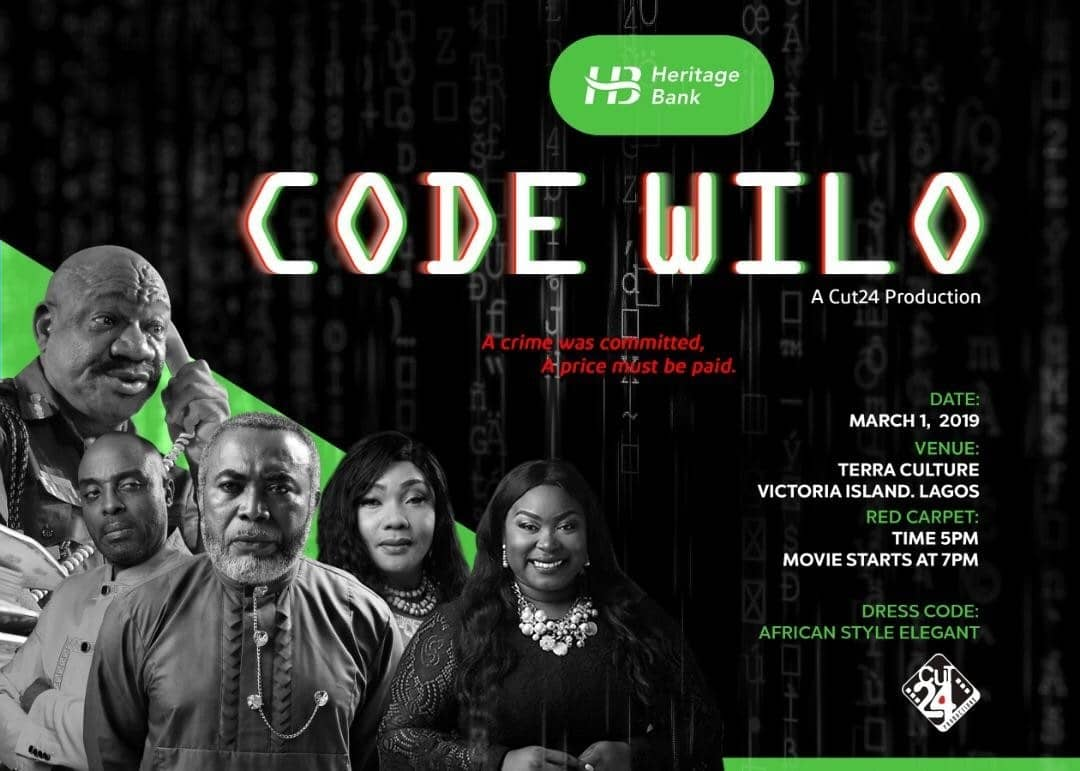 """Heritage Bank to Host Private Screening of New Political Drama """"Code Wilo"""""""