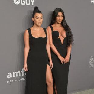 Kourtney & Kim Kardashian Were Quite The Sight At The amfAR Gala