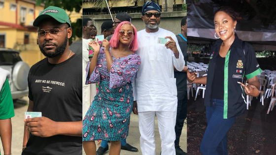 Nigerian Entertainers Show Up Across The Country To Cast Their Votes
