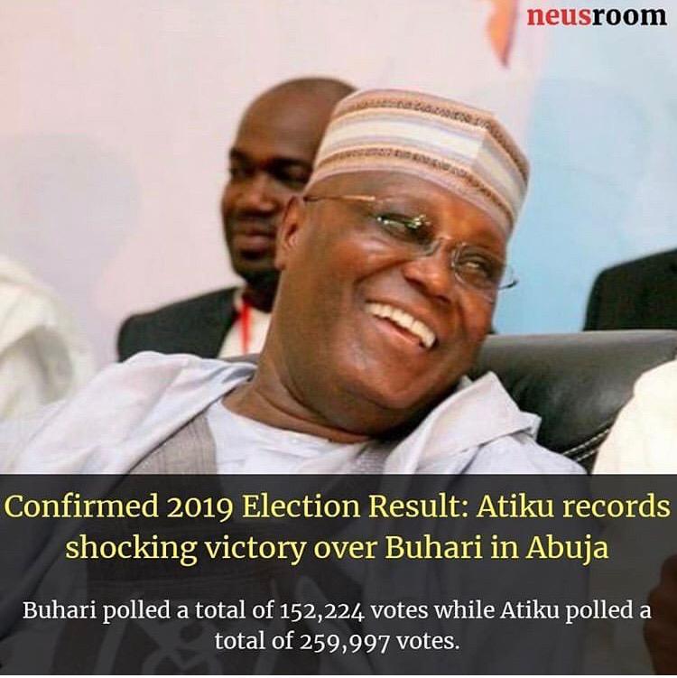#NigeriaDecides: Atiku Records Shocking Victory Over Buhari In Abuja