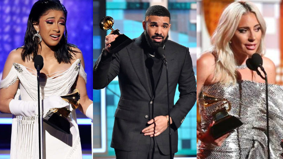 #Grammys2019: Cardi B, Drake, Lady Gaga Lead Long List Of Winners