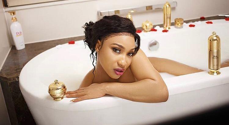 Tonto Dikeh Sets The Internet On Fire With Nude Bathtub Photo