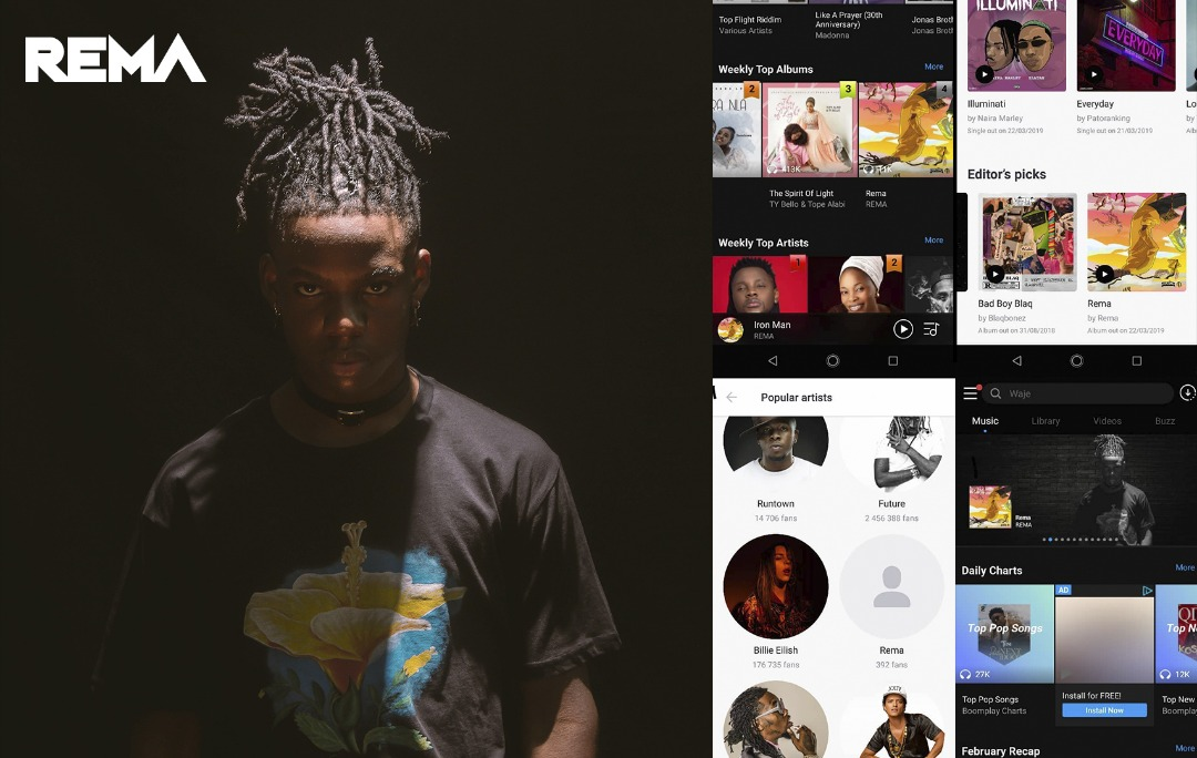 "Mavin Records new Signee ""Rema"" is leading  Nigeria's itunes chart with ""Dumebi"" & Iron Man"