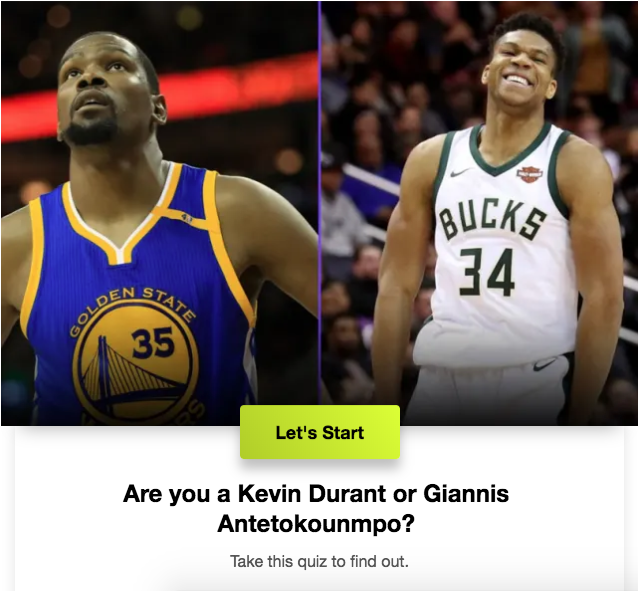 Are you a Kevin Durant or Giannis Antetokounmpo?