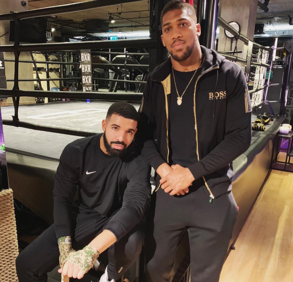 "Drake Pictured With Anthony Joshua But Will The Canadian's ""Sports Curse"" Strike Again?"