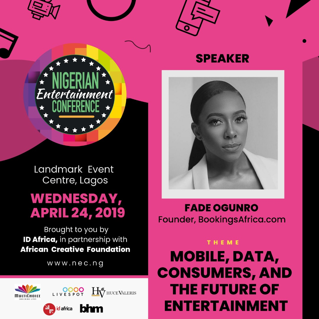 #NECLive7: Fade Ogunro Of Bookings Africa And Dayo Adeyelure Of Booked By Us To Share Insights At 2019 Conference