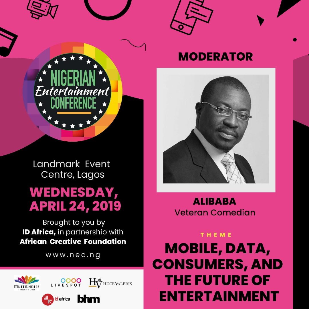#NECLive7: Alibaba Leads List Of Moderators At 2019 Nigerian Entertainment Conference