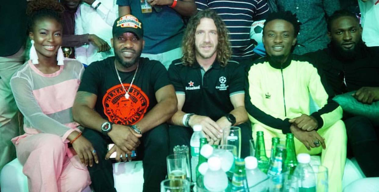 Photos: Tiwa Savage, 2baba, Stephanie Coker, Nancy Isime, Darey Art-Alade, Ehiz, Folu Storms and Uti Nwachukwu Join Football Legend Carles Puyol For UEFA Champions League Tour