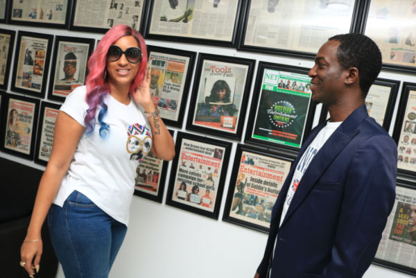Juliet Ibrahim Visits ID Africa's Office To Receive Her NET Honours Certificate
