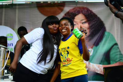 Funke Akindele Launches Dettol's Newly Commissioned Hand Wash Site At Mushin Market