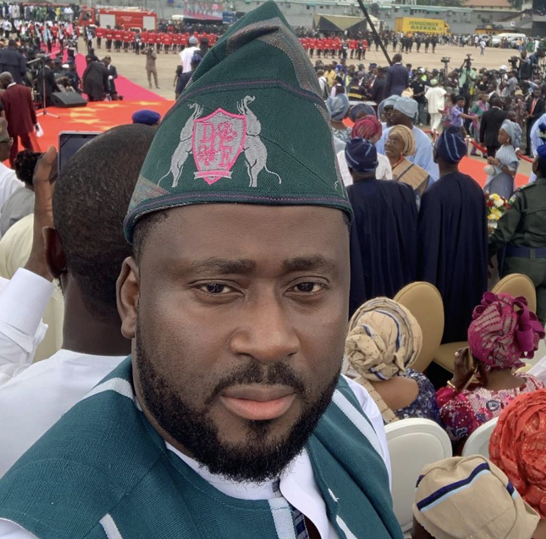 Desmond Elliot Turns Up For Sanwo-Olu At The Lagos State Governor's Inauguration