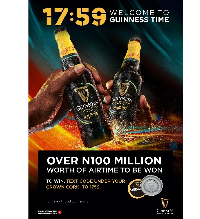 Over 100 Million Naira to be won in 1759- Welcome to Guinness Time – Promo