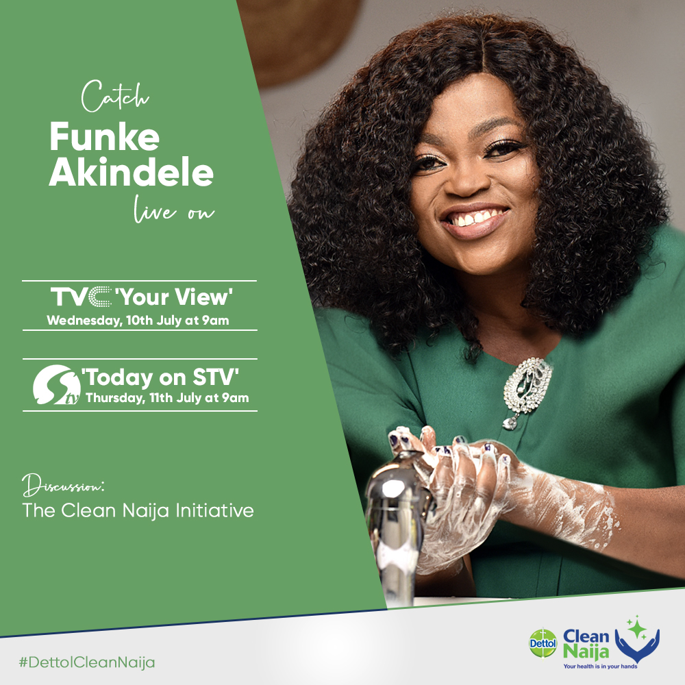 Dettol's New Moms Program: Funke Akindele To Appear on TVC's 'Your View' And Silverbird TV