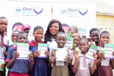 Funke Akindele Joins Dettol For Clean Naija Hospital And School Visits