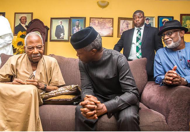 Vice President, Yemi Osinbajo Visits Fasoranti To Offer Condolences