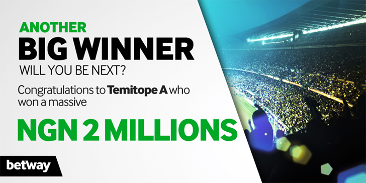 26 Year Old Teacher Wins N2 Million on Betway AFCON Predictor Promotion
