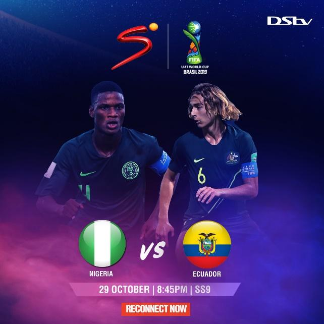 Watch Nigeria play Ecuador TODAY at 8:45 PM on DStv!