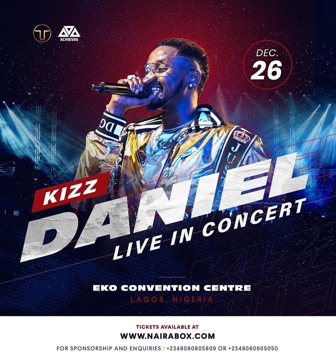 Davido, Tiwa Savage, Falz, Other Join Kizz Daniel for the 'No Bad Songz' Concert Today.