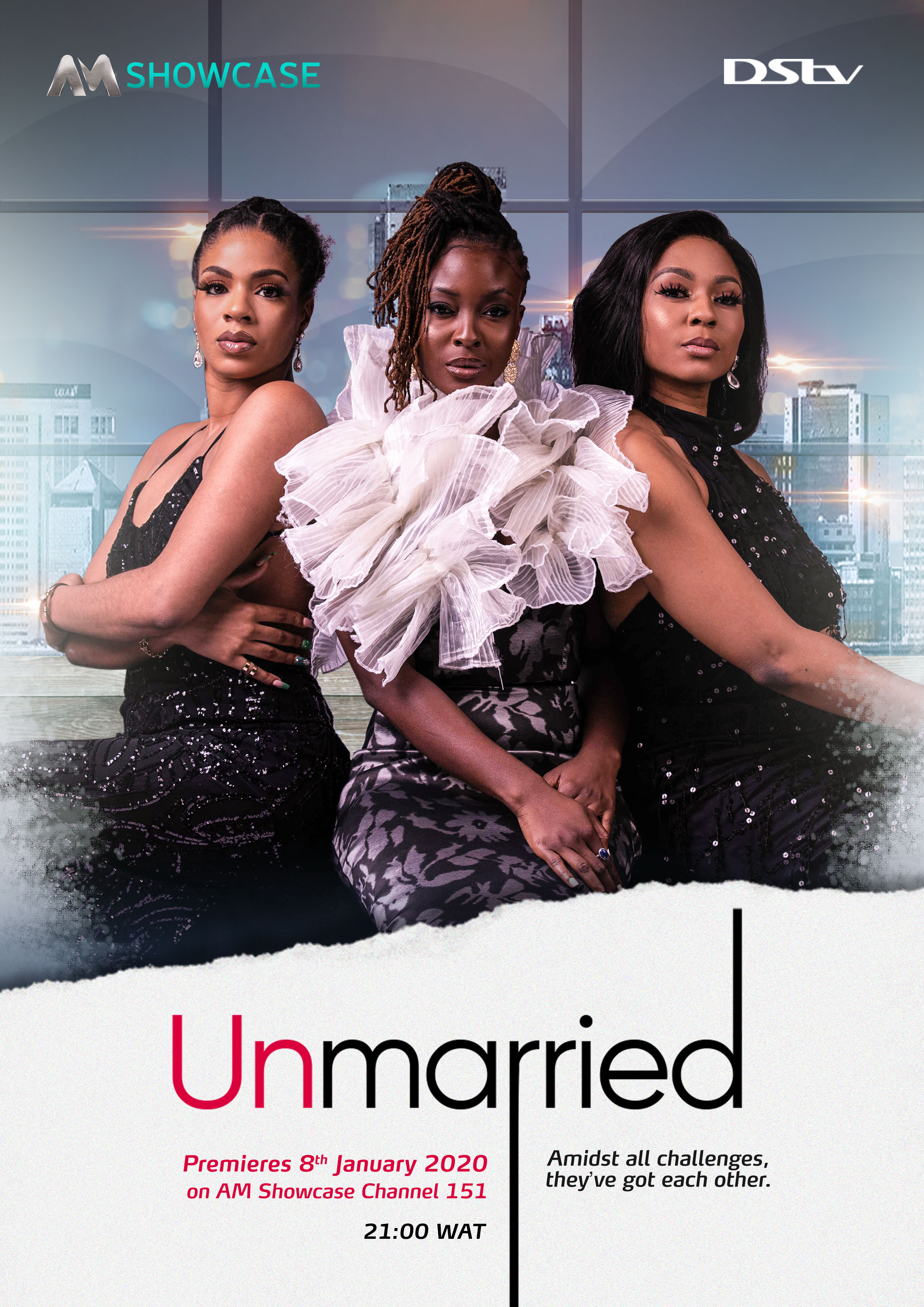 It's a Tale of Friendship, Love, and Commitment in Africa Magic's New Drama Series - Unmarried