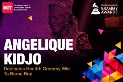 Angelique Kidjo Dedicates Fourth Grammy To Burna Boy