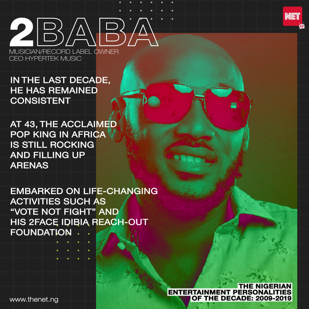 The Nigerian Entertainment Personalities of the Decade (2009 - 2019): 2Baba