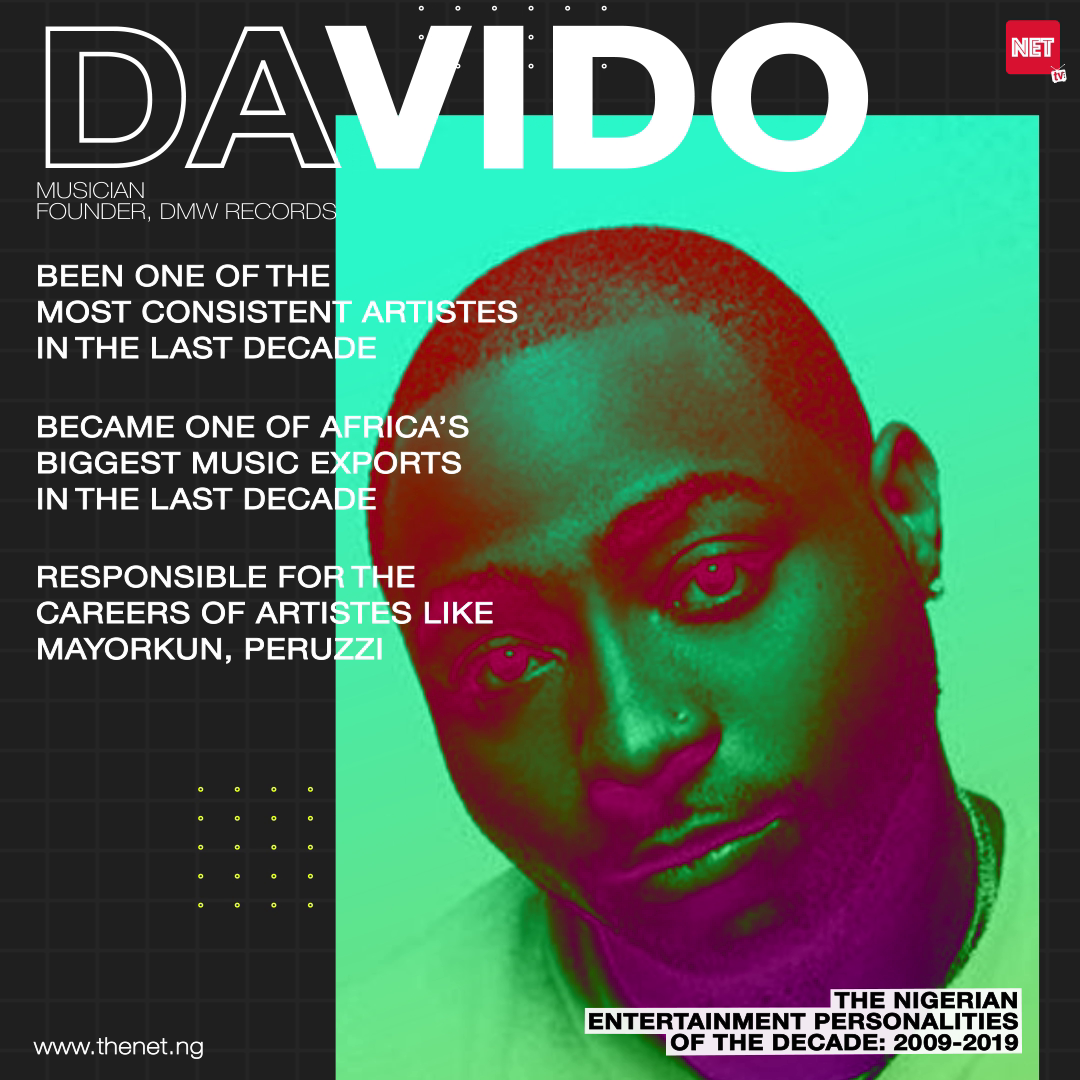 The Nigerian Entertainment Personalities of the Decade (2009 - 2019): DAVIDO