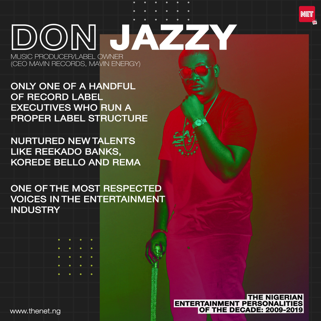The Nigerian Entertainment Personalities of the Decade (2009 - 2019): DON JAZZY