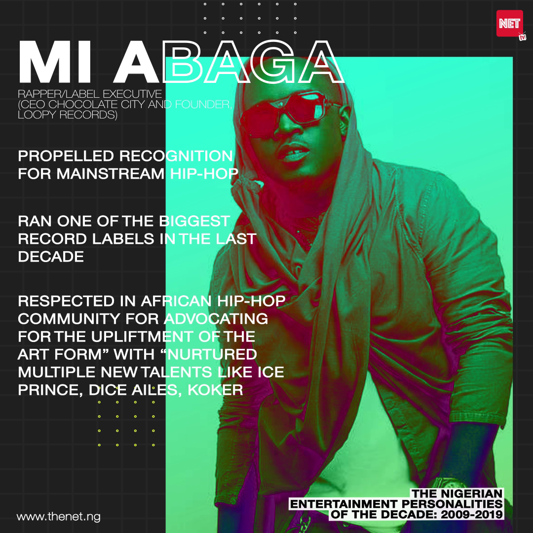 The Nigerian Entertainment Personalities of the Decade (2009 - 2019): M.I ABAGA