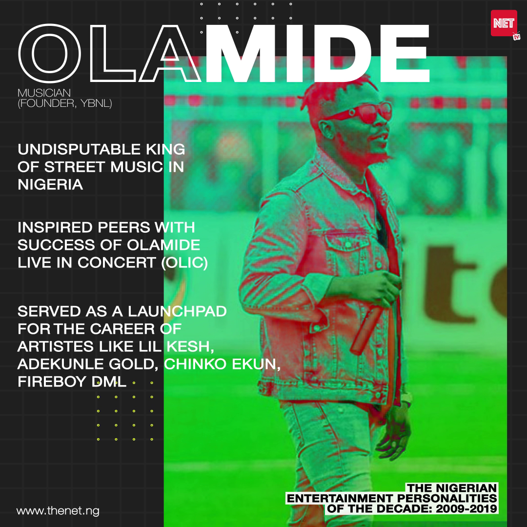 The Nigerian Entertainment Personalities of the Decade (2009 - 2019): OLAMIDE