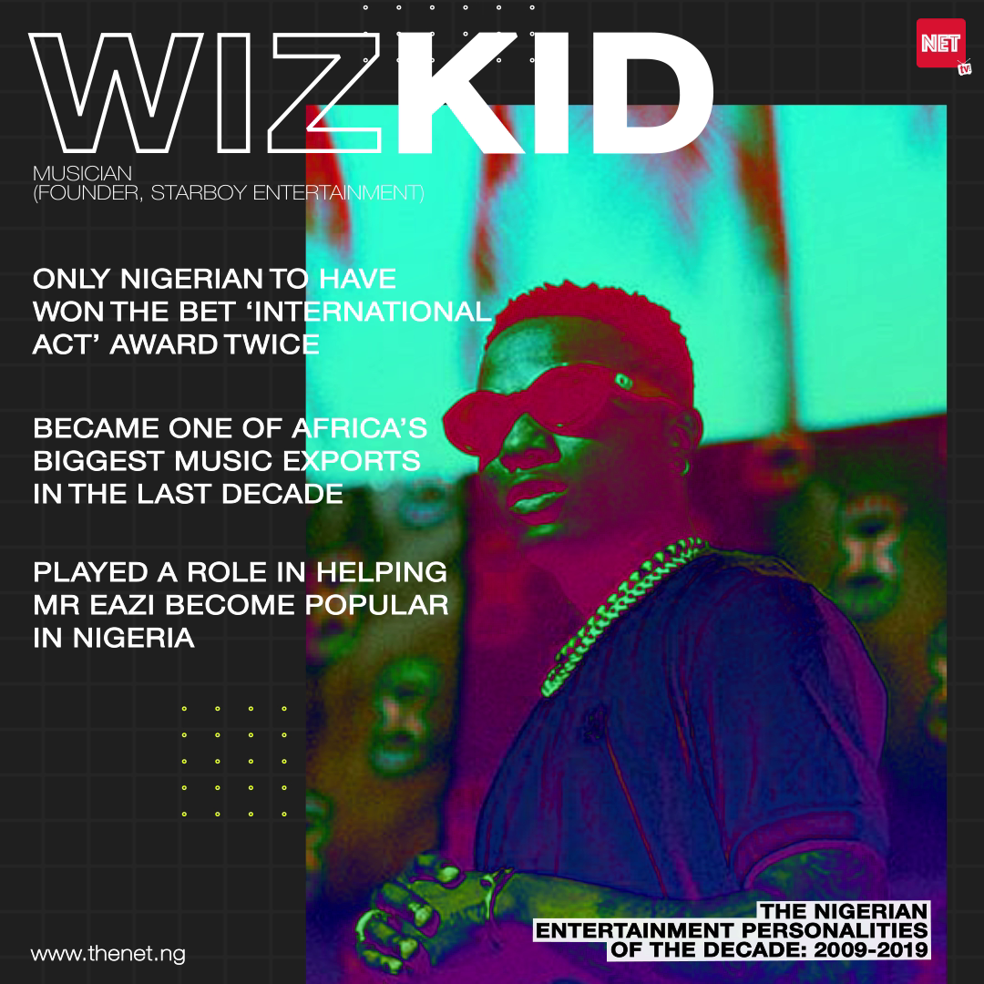 The Nigerian Entertainment Personalities of the Decade (2009 - 2019): WIZKID