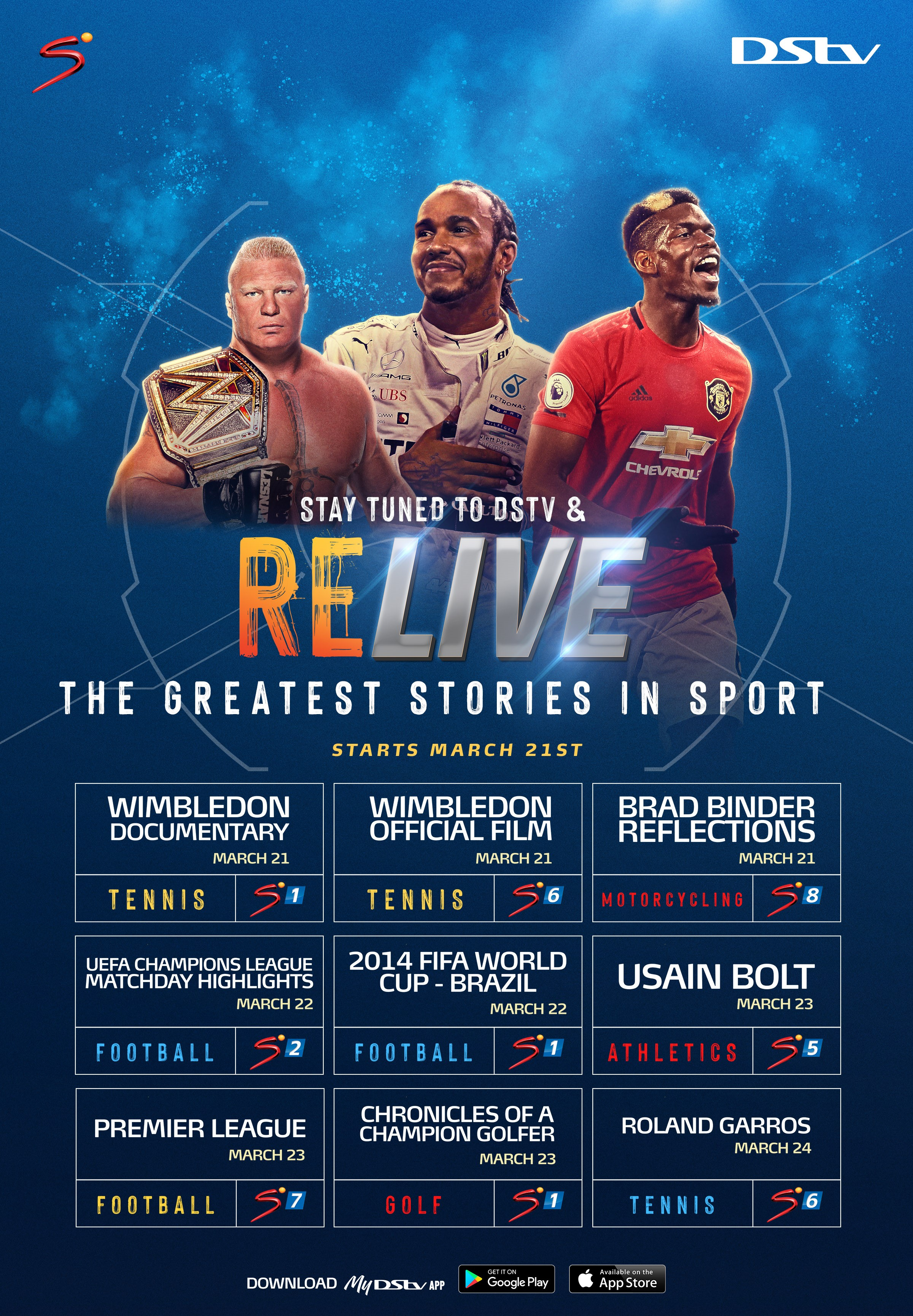 Re-live All Your Favourite Sporting Moments on DStv this weekend