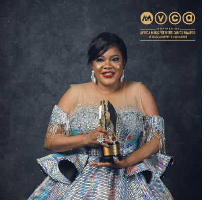 Toyin Abraham Dedicates Her First AMVCA To Her Son
