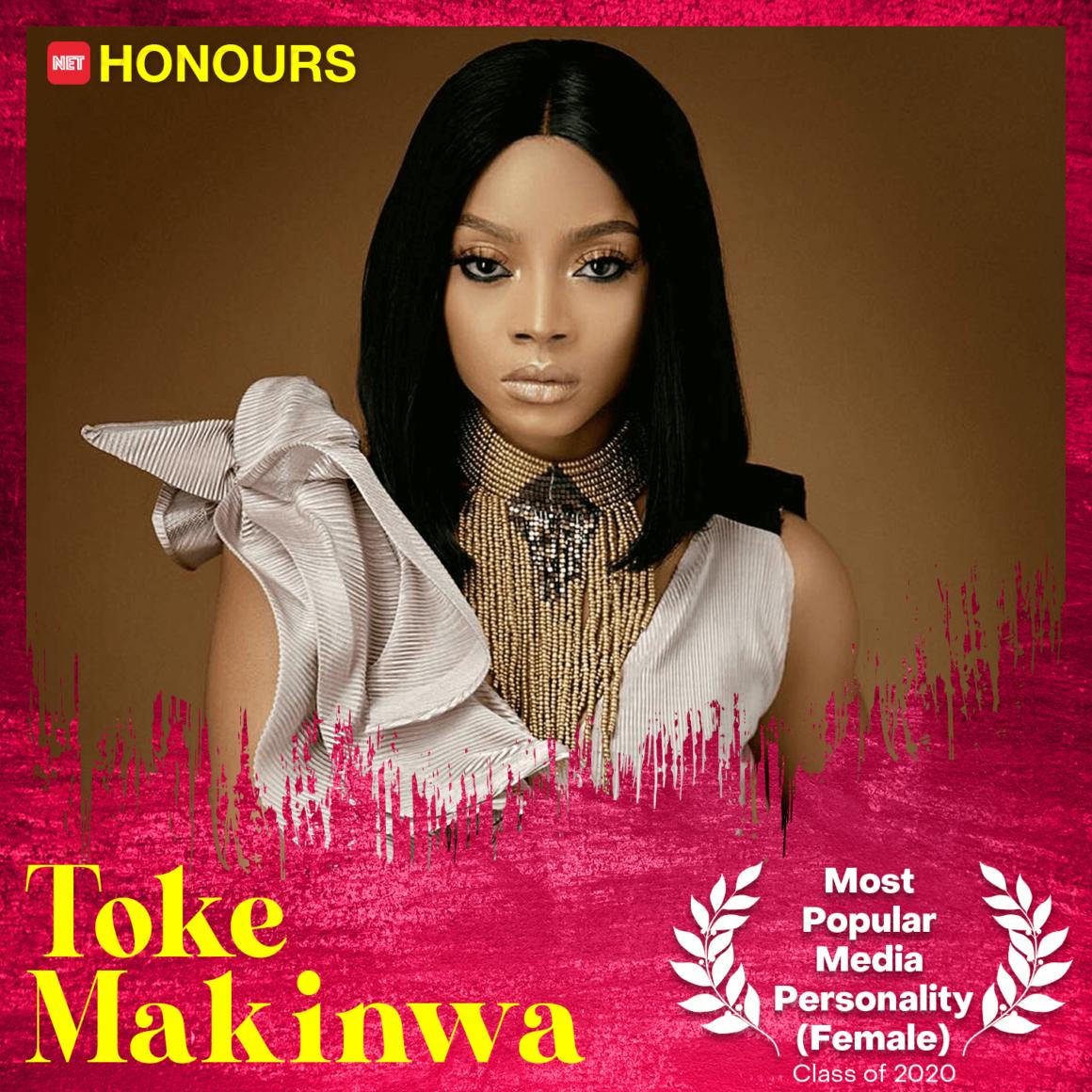 toke makinwa net honours 2020