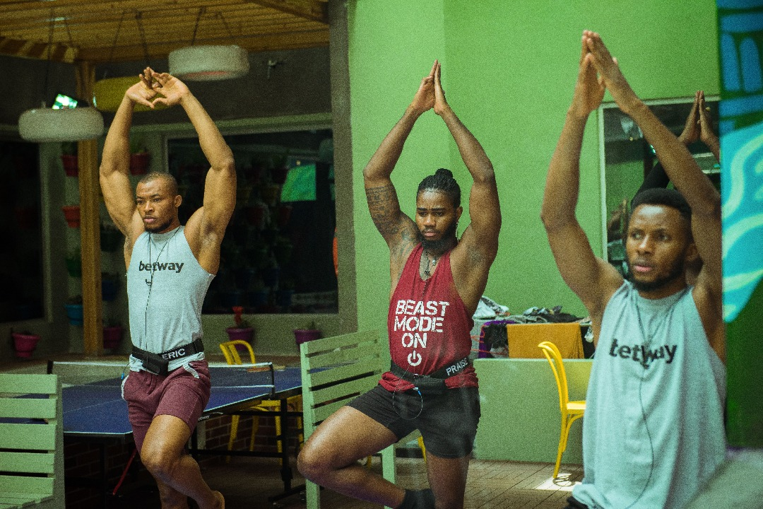 Housemate Yoga Session at BBN lockdown