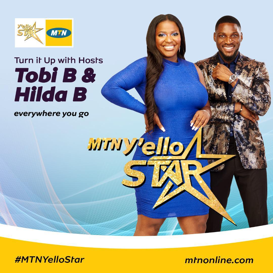 Tobi Bakre and Hilda Baci Announced As MTN Yello Star Hosts